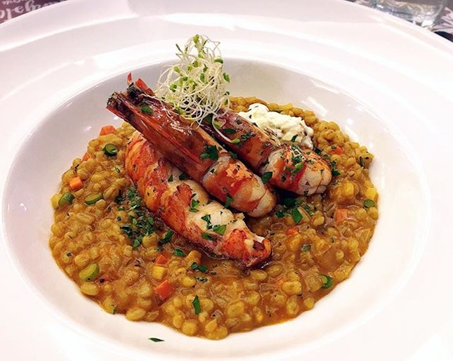 Barley risotto probably tasted healthier than the usual.