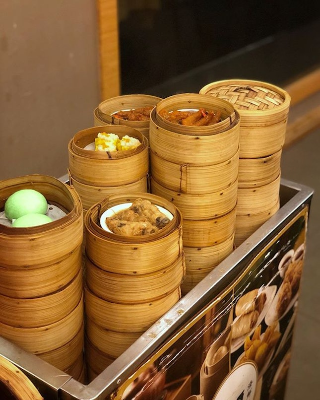Good old traditional Teochew Dim Sum served on push-cart for that nostalgic feel.