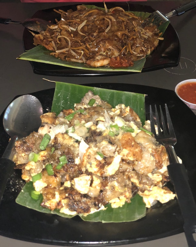 Fried Kway Teow & Fried Oysters