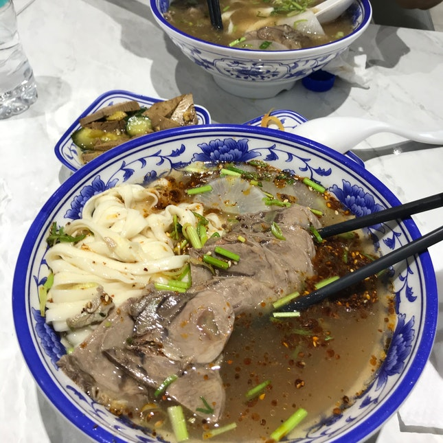 mala beef slice noodles ($7.90)