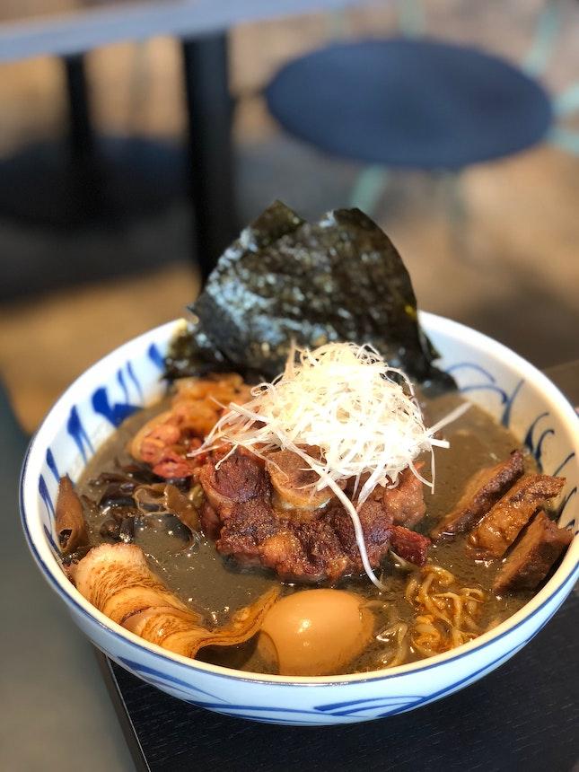 Black Sesame Miso Sumo Ramen