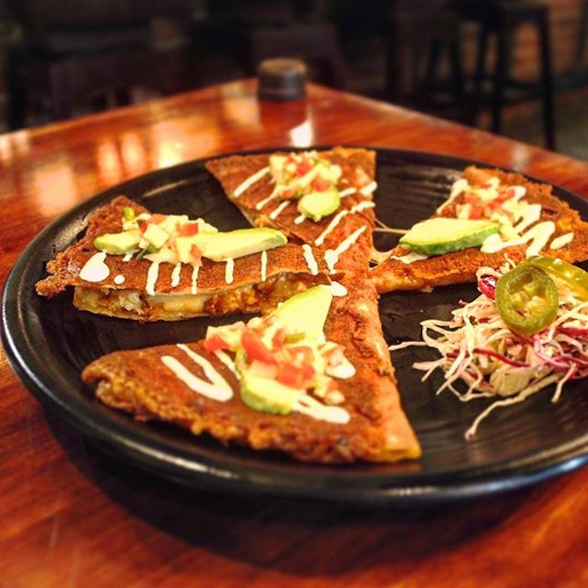 Mango Prawn Quesadillas is a must try.