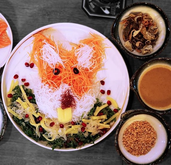 In conjunction with Chinese New Year, Maru Dine & Bar has launched Prosperity Yu Sheng in Dog design 😍 that is specially curated from S$28++ from now till 2 March 2018.