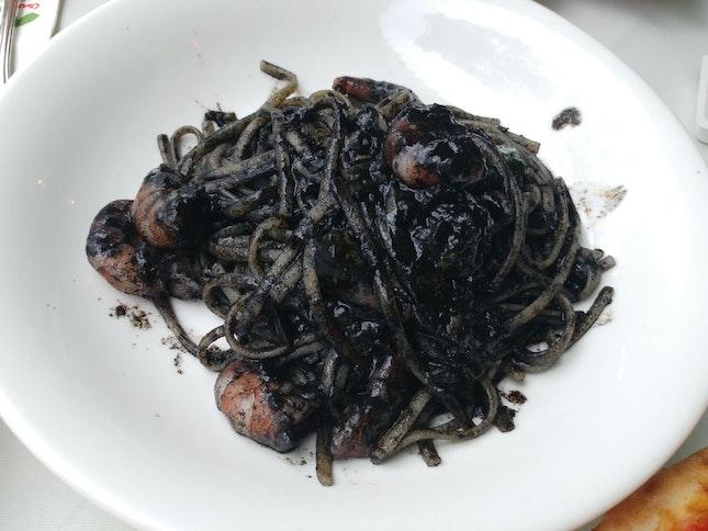 Squid Ink Pasta (Linguine Al Nero Di Seppia) [$24]