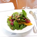 Roasted Kabocha Pumpkin & Spinach Salad