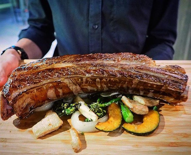 [ Beef 🐄 Ribs with roasted vegetables $88.80++ .
