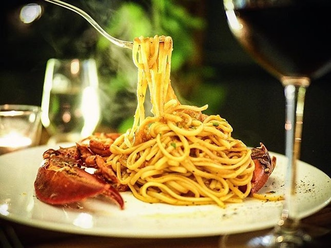 Lobster Linguine from #limoncello Tasty!