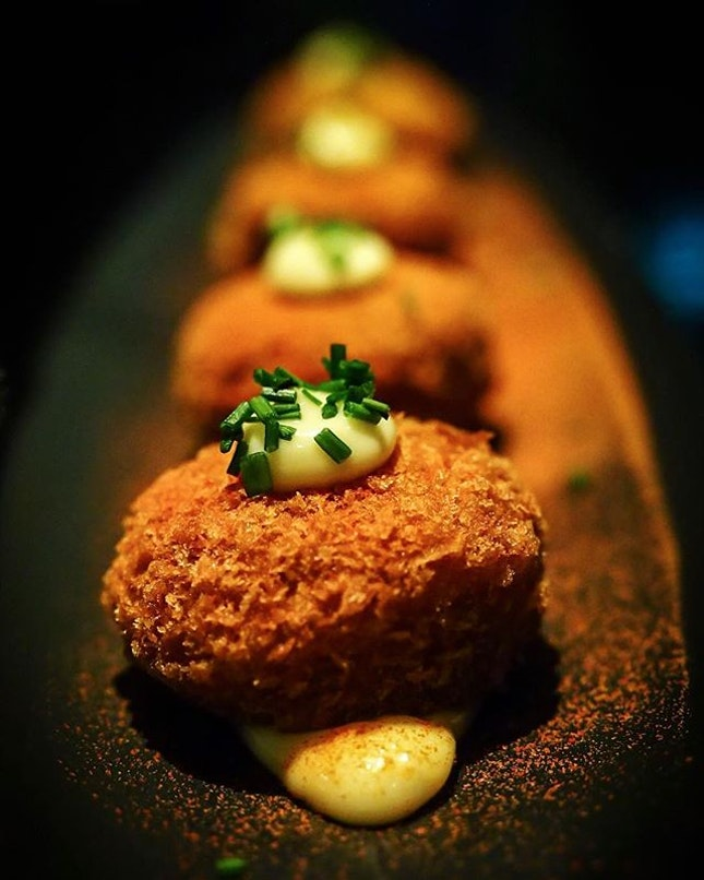 Brand new menu at @borutosingapore 🎈🎉🎈 You gotta try these *Risotto Croquettes* ($10.80++) They are so so Good!
