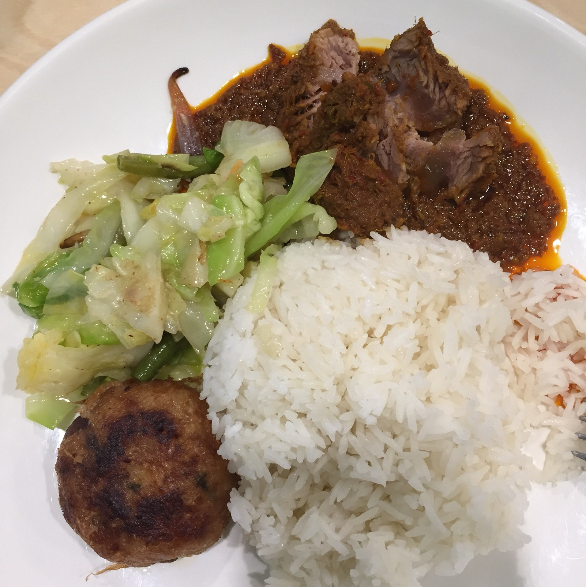 Beef Rendang With Rice