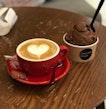 Double Scoop Dark Chocolate Gelato And Cappuccino