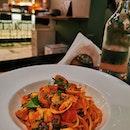 @operettacornerbar Delizioso Pasta & top notch service at Boon Tat Street.