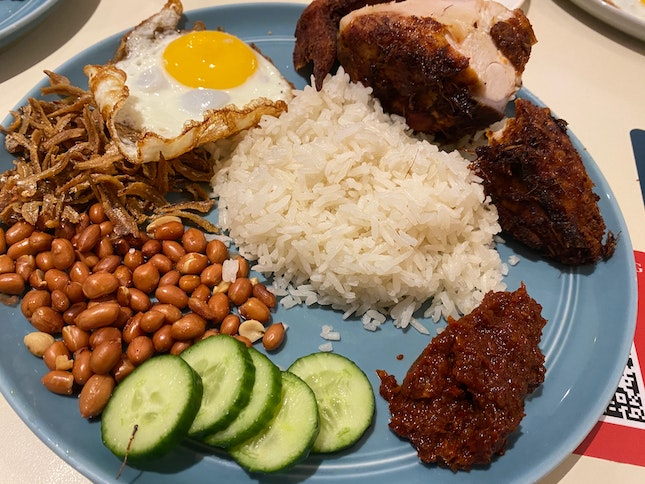 Chicken Breast Nasi Lemak Set- $14.80