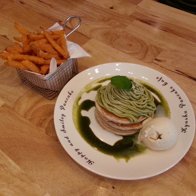 Matcha MontBlanc ($18) + Sweet Potato Fries ($6)