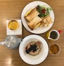 Salmon Ochazuke ($16+), Tamago Sando ($13+), Immunity Tea ($8+)