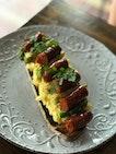 Asparagus, Chorizo And Scrambled Eggs