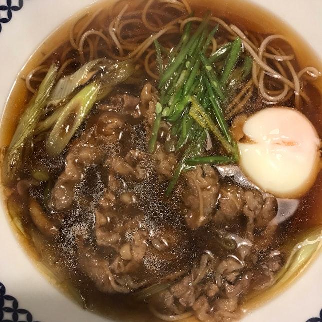 Hot Sukiyaki Soba