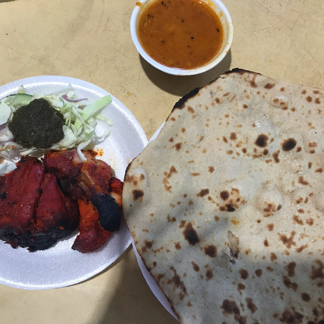 Tandoori Roti And Tandoori Chicken