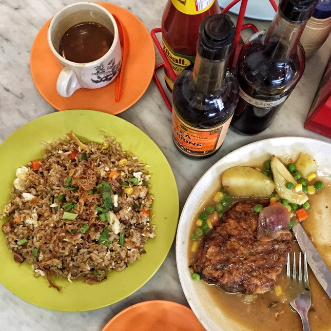 Pork Chop (RM12.50) & Belacan Fried Rice (RM7.50)