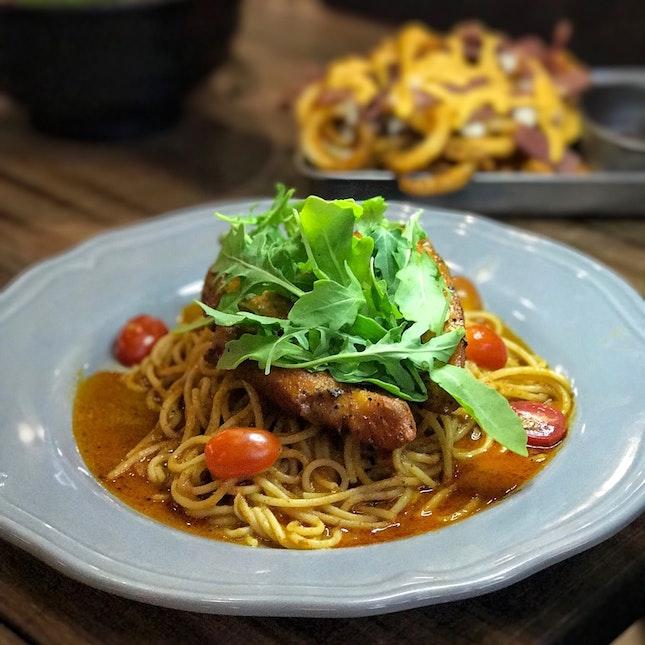 Chicken Satay Pasta ($14.90)