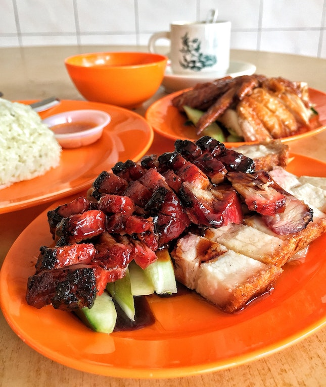 Chicken Rice + Siew Yoke and Char Siew for Two (RM31)