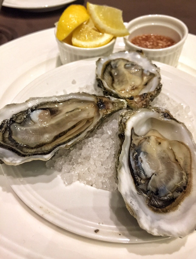 Marennes d'Oléron Oysters( $16.50 for three | Tapas Menu)