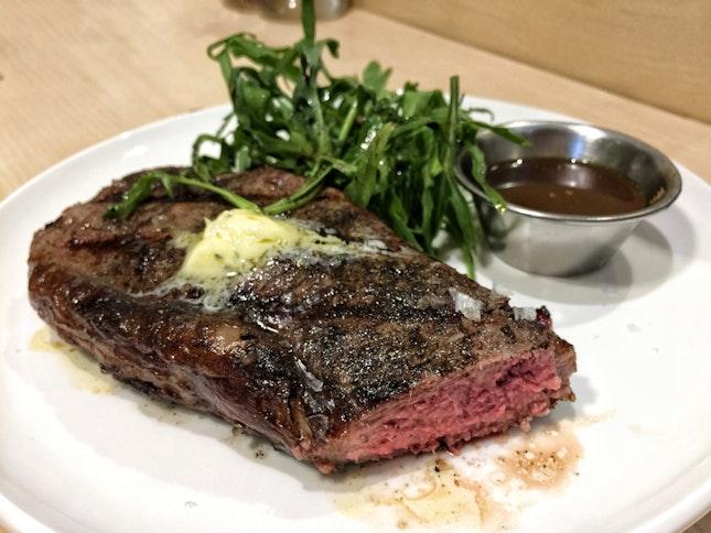Australian Tajima Wagyu Striploin Steak ($36, 200g)