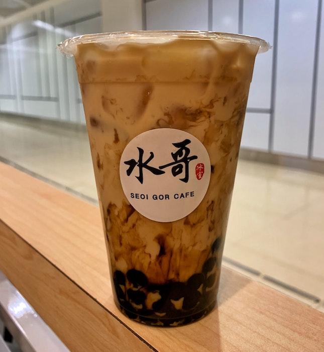 Tiger Sugar Pearl Milk Tea ($2.80)