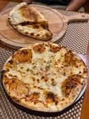 Calzone ($24) & Marinara Pizza ($22)