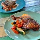 Roasted Chicken Leg with Pumpkin Mash ($21)