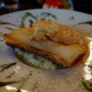 Grilled Cod Cream Risotto, $35