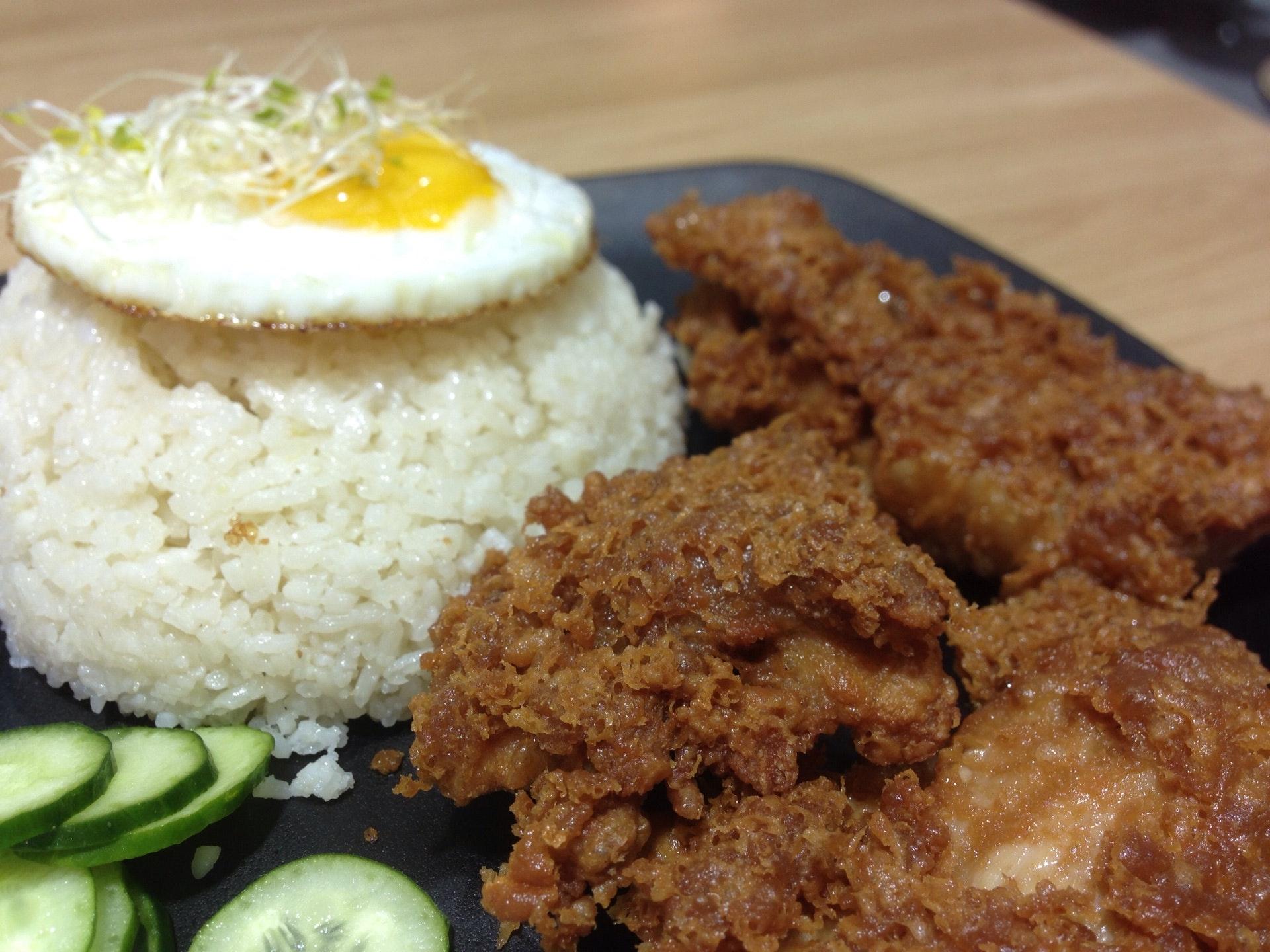 Prawn Sauce Chicken Cutlet Rice