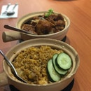 Fried Rice + Claypot Golden Chicken