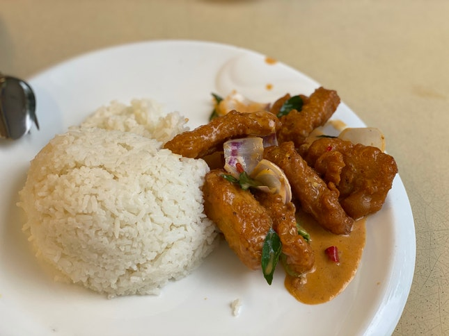 Mongolian Pork Rib Rice