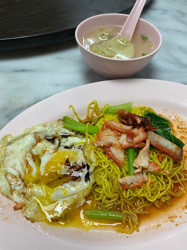 Wanton Noodle with Sunny Side Egg