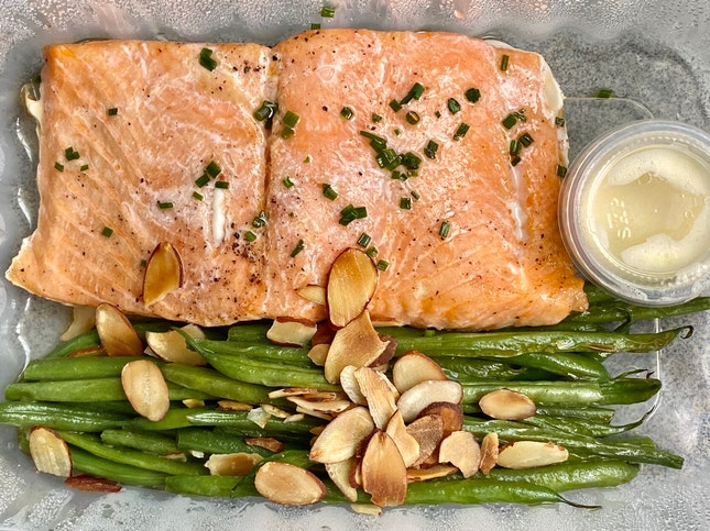 Baked Salmon Trout