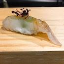 Southpaw Bar & Sushi @southpawbarnsushi - Omakase Take (💵S$98) - HOSTED TASTING - Assortment of Sushi 🍣 • ACAMASEATS & GTK💮: Hirame 平目, Flounder Nigiri Sushi .