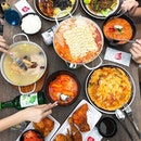 Bonchon - INVITED TASTING - On The Table - ACAMASEATS💮: Budae Jjigae (Army Stew) (💵S$26.90) 🥘 Probably the most overpriced dish in my opinion, well I know it's army stew which is supposed to be all preserve meats & etc.