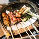The Skewer Bar 烤吧 - Bacon Wrap Enoki (💵S$1.80), Bacon Wrap Quail Egg (💵S$1.80), Okra/Ladies Finger (💵S$1.30) & Leeks (💵S$1.30) 🍢 • ACAMASEATS & TIPS💮: There was a few stand out skewers of the night that are grilled & seasoned quite masterfully I have to say.