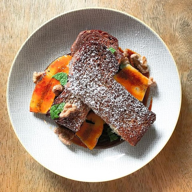 One Man Coffee - All Day Brunch - French Toast with Caramelised Banana (💵S$12) 🍌 • ACAMASEATS & TIPS💮: The standard of a good French Toast is a fluffy toast, moist, airy, eggy interior with a crispy outer crust.