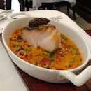 Taratata Bistrot @taratata_bistrot_singapore - 3 Course Lunch (💵S$38++) - Main Course - Cod - Fresh Cod with sautéed baby squid & piquillo peppers in lobster broth reduction.
