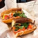 Sandwich Saigon @sandwich_saigon - Bánh Mì - Pork Meatball Sandwich (💵S$8 + Pâté S$1 + Egg Omelette S$1.80) • .