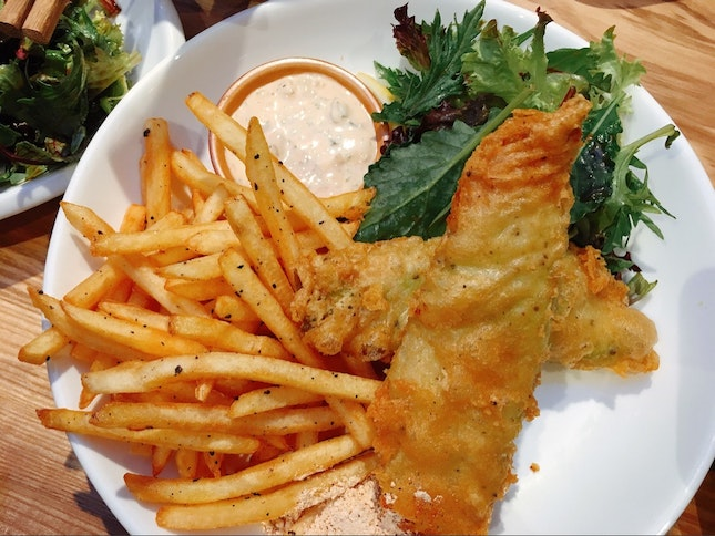 Cod Beer Battered Fish & Chips