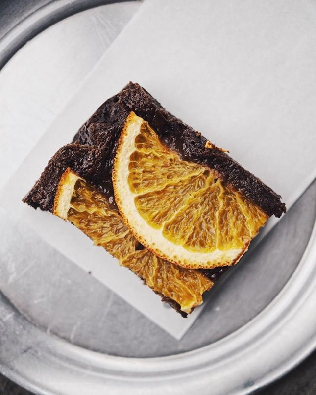 This fudgey rye ginger orange brownie hits all the right spots.