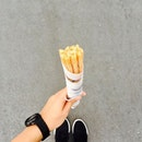 Churro 💕 The first time I tasted churro here in USS, it costed $4.