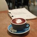 I'm liking how dark this hot chocolate looks.