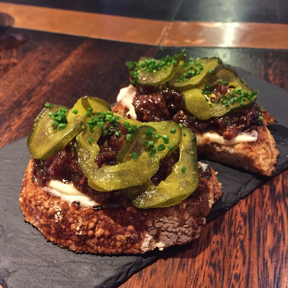 Beef Marmalade and Pickles ($14)