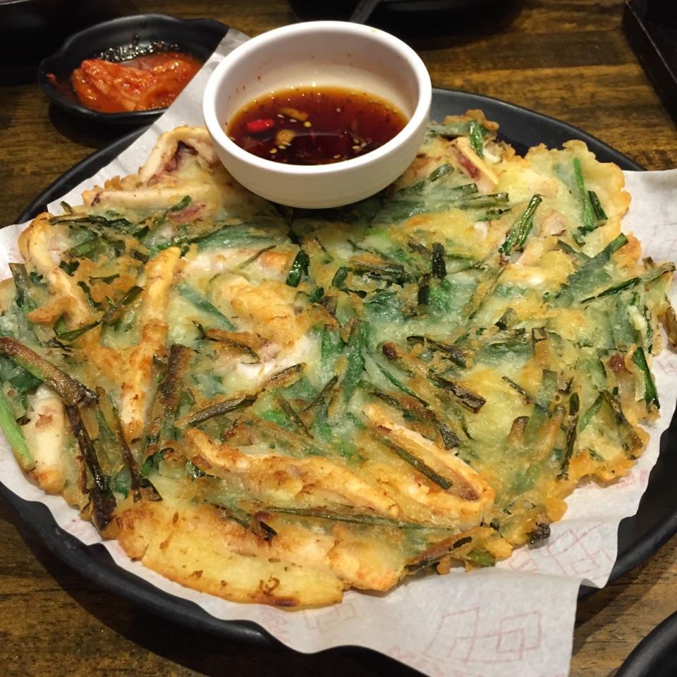 Squid & Leek Pancake ($14.80)