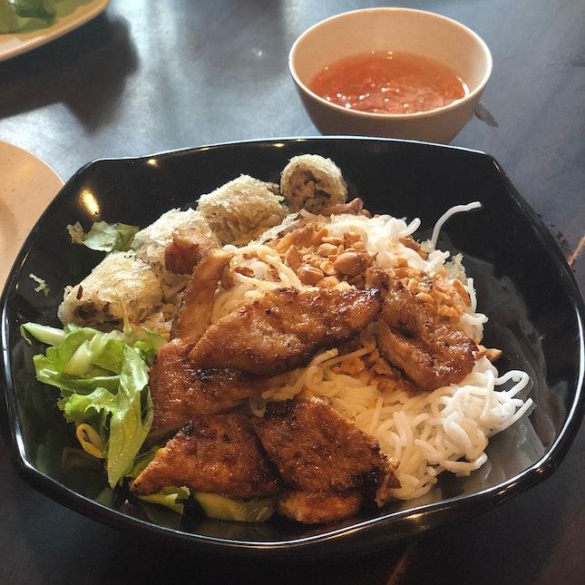Bún Thit Nuong Cha Giò ($9)