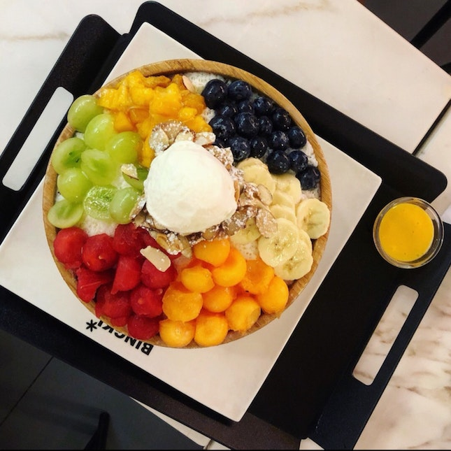 Cold Cafe With Nice Appearance Of Bingsu 🍧