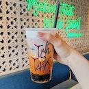 Teh Tarik Cream Cap Caramel w Boba ($4.80)